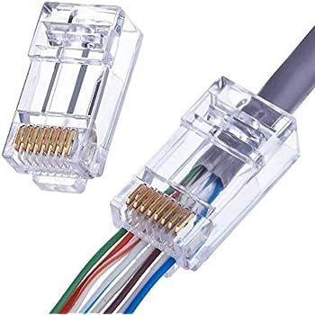 Superb Amazon Com Shd Rj45 Connectors Rj45 Crimp Ends 8P8C Utp Network Wiring Digital Resources Dimetprontobusorg