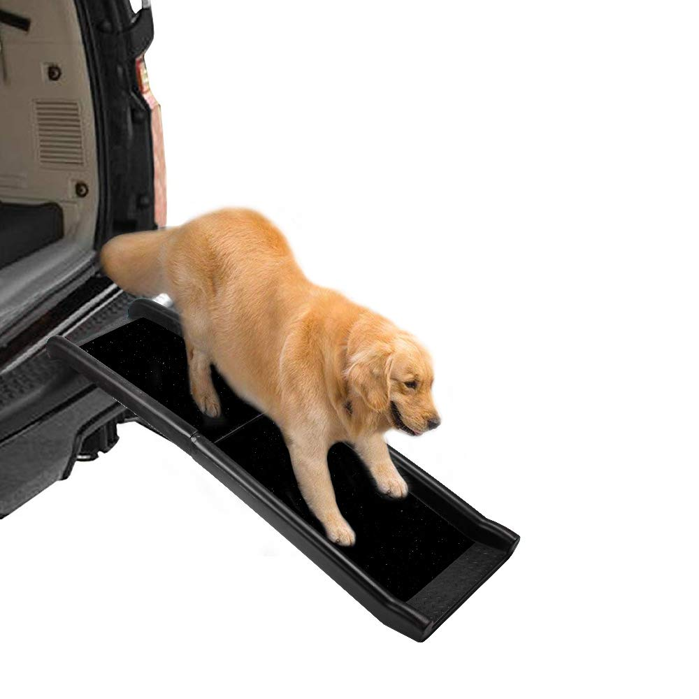 All for Paws Travel Car Ramp for Large Dogs, Foldable Dog Safety Ramp for SUVs, Trucks, 62 Inch by AFP