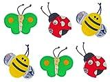 FLATTIES Bugs Crinkle Cat Toys – 6 Pack, My Pet Supplies