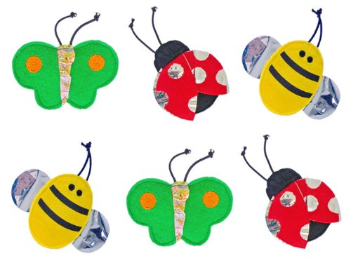 FLATTIES Bugs Crinkle Cat Toys – 6 Pack, My Pet Supplies