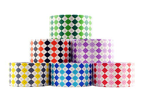 6 Roll Variety Pack of Decorative Duct Style Tape, Plaid Tape, Each Roll 1.88 Inch x 5 Yards, Ideal for Scrapbooking - Decorating - Signage (6-Pack, -