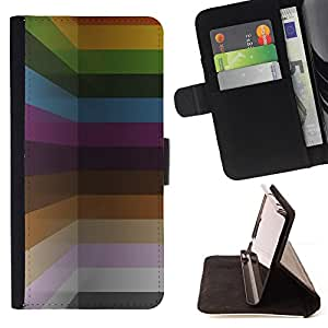 Jordan Colourful Shop - pastel colors paint lines horizontal For Samsung Galaxy S5 Mini, SM-G800 - Leather Case Absorci???¡¯???€????€??????