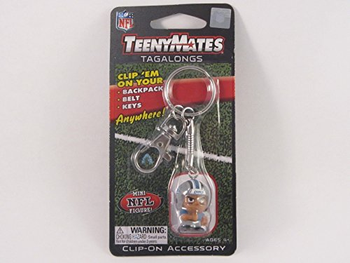 Party Animal NFL Detroit Lions Teeny Mates Keychain Tag Along Figure