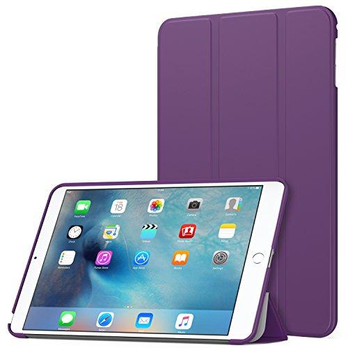 MoKo Case Fit iPad Mini 4 - Slim Lightweight Smart Shell Stand Cover Case with Auto Wake/Sleep Fit Apple iPad Mini 4 (2015 Edition) 7.9 inch iOS Tablet, Purple