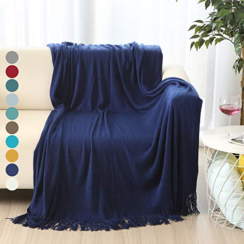 - ALPHA HOME Soft Throw Blanket Warm & Cozy for Couch Sofa Bed Beach Travel - 50