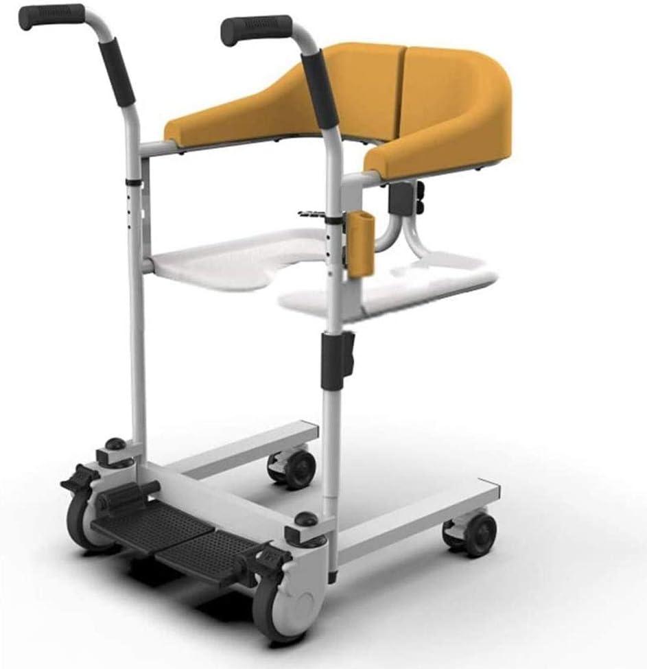 Walker, dispositivo médico para ancianos con inodoro, andador plegable (color: naranja, tamaño: 70 * 47 * 94 cm)