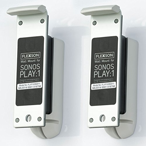 - Flexson Wall Mount for Sonos PLAY:1 with Mounting Hardware - (Pair) White