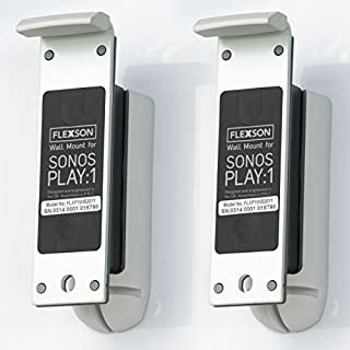 Flexson Wall Mount for Sonos Play:1 with Mounting Hardware - (Pair) White