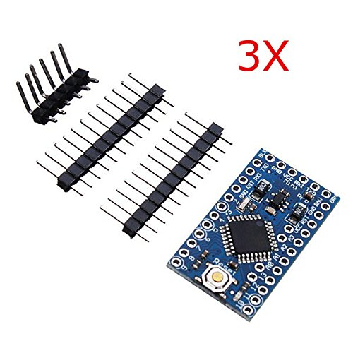 BephaMart 3Pcs 3.3V 8MHz ATmega328P-AU Pro Mini Microcontroller Board For Arduino BM00001