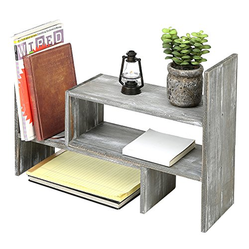 Review Distressed Gray Wood Adjustable
