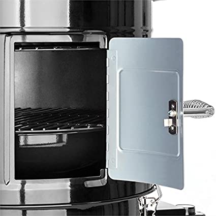 Klarstein Barney • Barbacoa 3-en-1 • Barbacoa eléctrica • Smoker • termómetro integrado • 3 rejillas de 40 cm de diámetro • flujo de humo régulable ...
