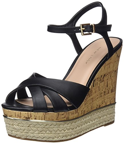 Sandales New Noir Femme Black 1 Plateau Look Power OOwxSqzER