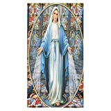 Christmas/Thanksgiving Day Towels Catholic Vingin Mary Thin Soft Towel(One Side)(30x56inches)