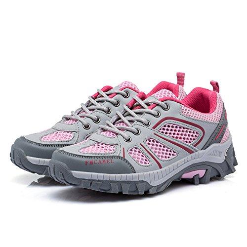 De Libre Respirables De Rosa Una Zapatos Rejilla Senderismo Aire Zapatos Ligeros Sola Deportivos Caminar De Senderismo Mujer Zapatos para Al Zapatos aw4wHdq