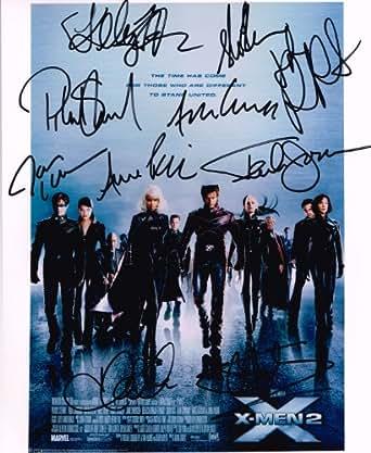 X-Men 2 (X2) Authentic Cast Signed 8x10 Autograph Photo - 10 Signatures - Patrick Stewart, Hugh Jackman, Ian McKellen, Halle Berry, Famke Janssen, James Marsden, Rebecca Romijn-Stamos, Anna Paquin, Kelly Hu, Shawn Ashmore