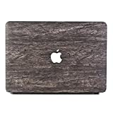 Tip-top PU Leather LOGO See Through Hard Case Wood Grain Protective Skin Cover Shell for MacBook 12 Inch with Retina Display A1534 [2017 / 2016 / 2015 Release] (Wood Grain6)