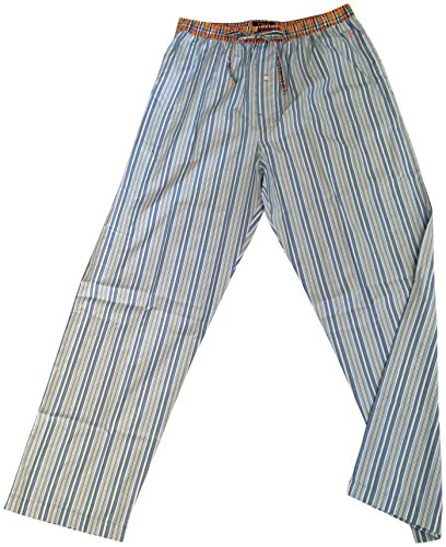 Polo Ralph Lauren Mens 100% Cotton Sleep Pajama Pants Striped Blue XL - Striped Mens Sleep Pant