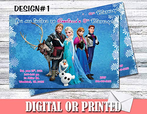 Frozen Personalized Birthday Invitations More Designs -