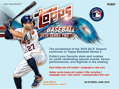 2018 Topps Baseball Series 2 HTA Jumbo Hobby Edition Factory Sealed 10 Pack Box - Baseball Complete Sets