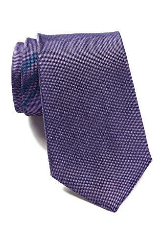 Ben Sherman Men's Plaid Silk Tie, OS (Purple)