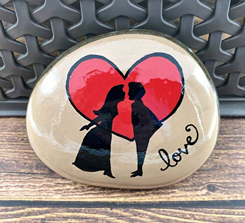 Kissing Couple Silhouette Valentine's Day Rock