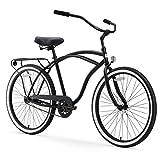 "sixthreezero Around The Block Men's 26-Inch Single Speed Cruiser Bike, Matte, 18"" / One Size"