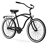 sixthreezero Around The Block Men's Single Speed Cruiser Bicycle, Matte Black w/ Black Seat/Grips,...