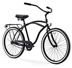 Cruise with style on the supremely comfortable Around The Block men's bike, featuring an upright riding design and sweeping cruiser handlebars to keep your back and shoulders relaxed. The comfort and ease of the sixthreezero Around The Block ...