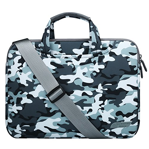 Camouflage Laptop Bag - 14 - 15.4 Inch Laptop Case, Laptop Shoulder Bag, Lightweight Computer Sleeve Carrying Protective Bag Notebook Messenger Bag For Macbook Air Pro 15, Lenovo HP ASUS Dell Acer 14