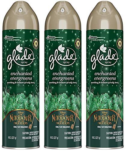 Tree Collection Holiday (Glade Air Freshener Spray - Holiday Collection 2018 - Enchanted Evergreens - Net Wt. 8 OZ (227 g) Per Can - Pack of 3 Cans)