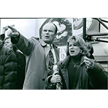Vintage photo of Kurtwood Smith and Mary Kay Place being worried on a scene from the film Citizen Ruth.