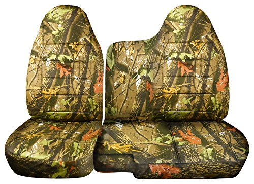 2004-2012 Chevy Colorado/GMC Canyon Camo Truck Seat Covers (Front 60/40 Split Bench) No Armrest: Brown Real Tree Camouflage (16 Prints) 2005 2006 2007 2008 2009 2010 2011 Chevrolet