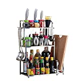 3-Storey Kitchen Counter Storage Rack for Seasoning Tank Storage, Can Be Used in The Bathroom 35×22×59cm