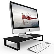 """Eutuxia TYPE-W Monitor Stand Riser 23.5 x 10 x 3.2"""" For Cubicles, Office Desktops"""