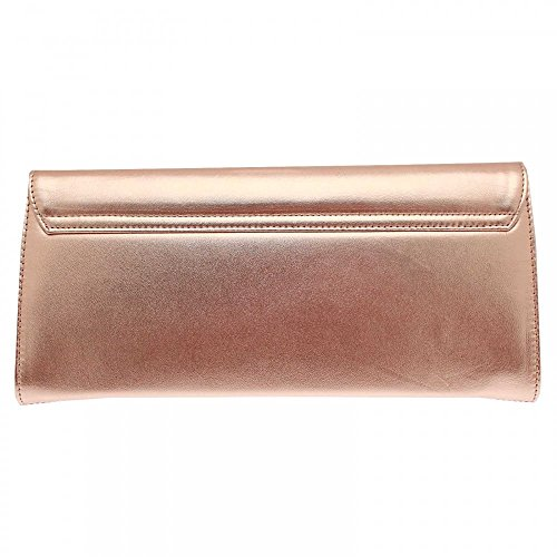 Peter Kaiser Liv Folder Over Clutch Bag With Strap Gold