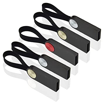 2GB Pen Drive 5 Piezas Memoria USB 2.0 Llavero Memoria Externa Kepmem Mini Metal Almacenamiento de Datos Externo, Pendrive