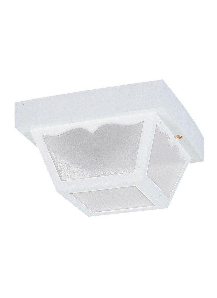 Sea Gull Lighting 7569EN3-15 Ceiling Outdoor Flush Mount, 2-Light LED 19 Total Watts, White