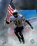 LaDainian Tomlinson - 2007 With Flag Photo Print (16 x 20)