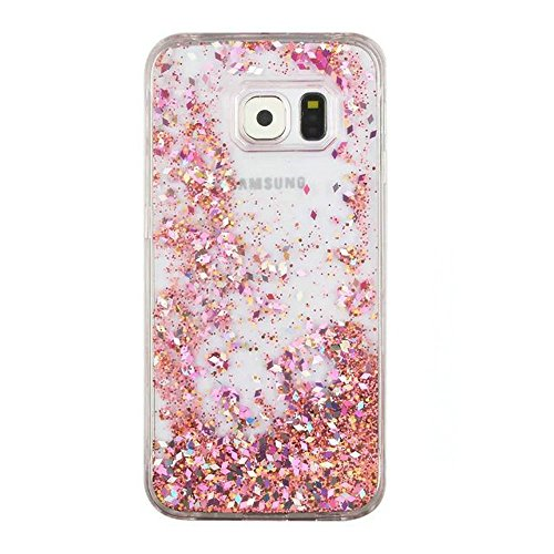 Galaxy S7 Edge Case , S7 Edge Quicksand Star Liquid Case, Surpriseyou Twinkle Little Stars Moving sand Liquid Shiny Bling Glitter Sparkle Hard PC Case for Samsung Galaxy S7 Edge (Pink Diamonds) Photo #3
