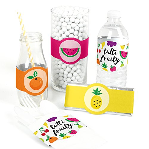 Tutti Fruity - DIY Party Supplies - Frutti Summer Baby Shower or Birthday Party DIY Wrapper Favors & Decorations - Set of -