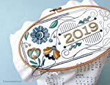 2019 Calendar embroidery kit with matching floss