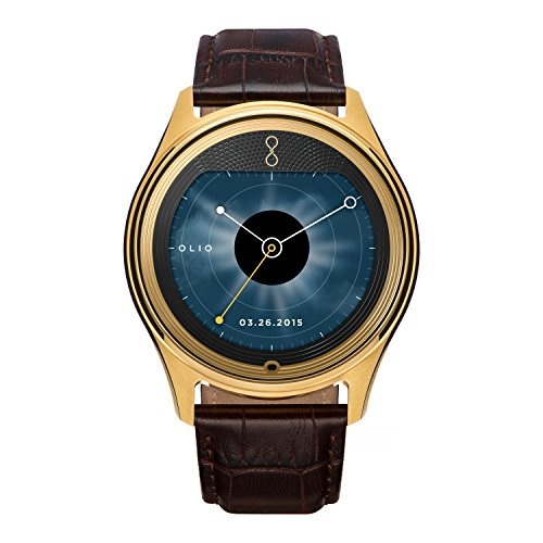Olio 'One' H1B-SKU-11 Stainless Steel and 24K Gold Smartwatch