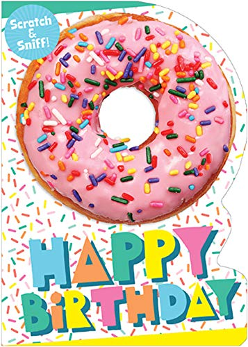 Paper House Pink Donut Scratch and Sniff Birthday Card for Kids