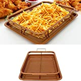 UNAKIM--Non-Stick Gotham Steel Copper Crisper Tray - AIR FRY IN YOUR OVEN Kitchen Tool