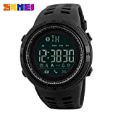 SKMEI Men Smart Watch Chrono Calories Pedometer Multi-Functions Sports Watches Reminder Digital Wristwatches Relogios 1250(Black)