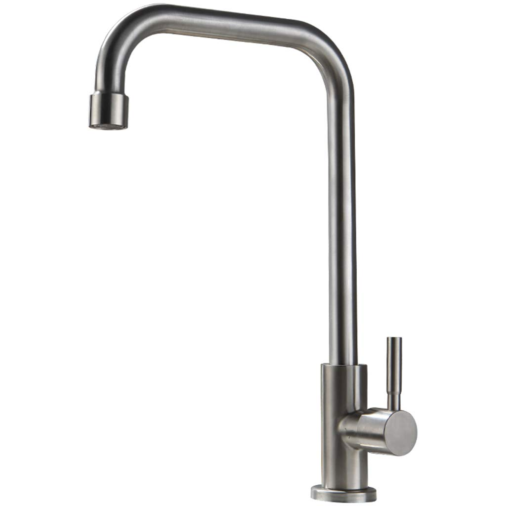 Yxx max Kitchen Basin Mixer 304 Stainless Steel Single Cold Kitchen Faucet
