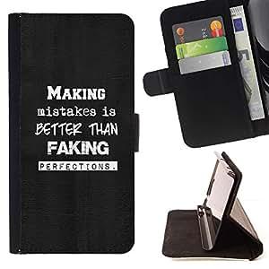 Momo Phone Case / Flip Funda de Cuero Case Cover - HACIENDO ERRORES - TIPOGRAFÍA - Sony Xperia Z3 D6603
