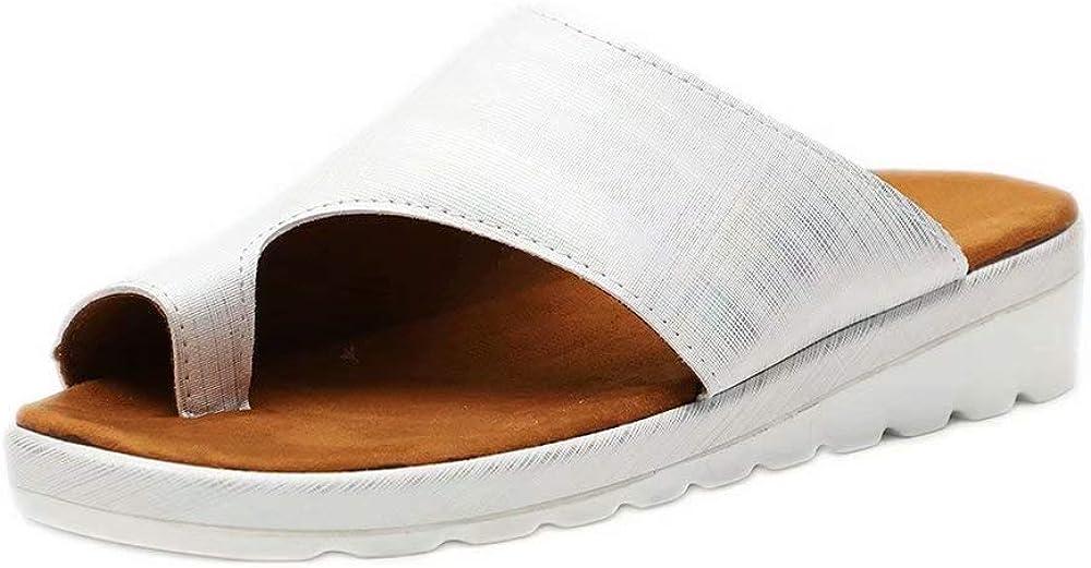 Sandales Femme Plates Ete Cuir Compens/ées Plateforme Basse Bout Ouvert Chaussures de Plage Piscine Flip Flop Confort de Plein Air Noir Marron Or Argent L/éopard 35-43