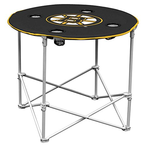 Logo Brands NHL Boston Bruins Round Table, One Size, Multicolor (Chair Mlb Deluxe)
