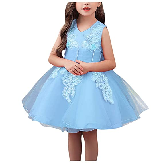 Flower Toddler Kids Baby Girls Dress Princess Pageant Lace Tutu Dresses 0-7Years